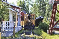 Pioneer Park railroad Fairbanks Alaska - stock photo