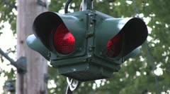 720p Traffic Signal CU Stock Footage