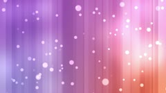 Purple and orange streams of light with shining stars Stock Footage