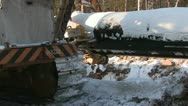 Construction of oil pipeline Stock Footage
