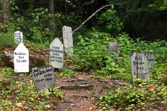 Gold Rush Skagway Cemetery Alaska Stock Photos