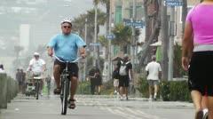 San Diego Mission Bay Beach 01 heat mirage Stock Footage