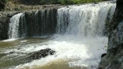 Haruru falls New Zealand Waterfall - stock footage