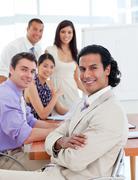 Self-assured businessman in a meeting Stock Photos