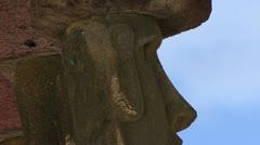 Easter Island Moai Statues Stock Footage