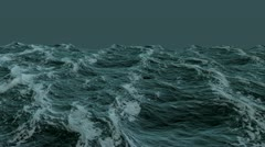 Rolling ocean with alpha channel in 1920x1080 Stock Footage