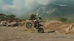 motocross race 36 - stock footage