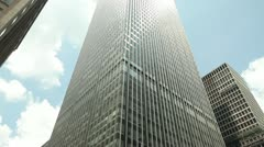 JP Morgan headquarter office building tilt down New York City Stock Footage