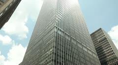 JP Morgan headquarter office building tilt down New York City - stock footage