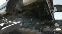 Car Scrapyard Stock Footage