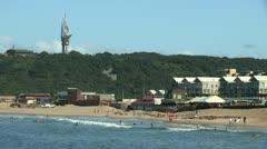 Durban beach next to the Bluff Stock Footage