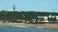 Durban beach next to the Bluff Stock Footage