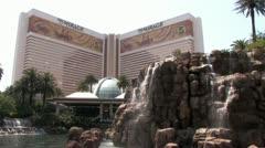 1440 Vegas Hotel Waterfall 9 Stock Footage