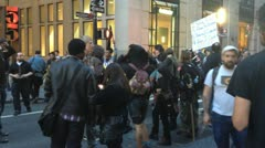 NEW YORK - MAY 1, 2012: Occupy Wall Street Protestors march down Broadway in New Stock Footage
