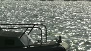 San Diego US Naval Base Security Guard Boat 03 Stock Footage