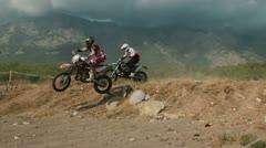 motocross race 27 - stock footage
