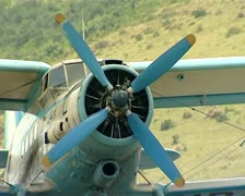 agriculturial aeroplane - stock footage