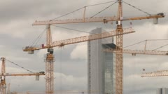 Crane at work - stock footage