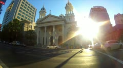 Cathedral Basilica of St. Joseph in San Jose, California Stock Footage