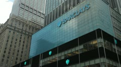 Barclays in New York City office building tight 24p - stock footage