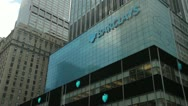 Stock Video Footage of Barclays in New York City office building tight 24p