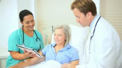 Updating Female Patient Treatment Plan Stock Footage