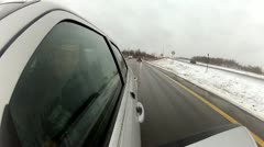 Winter Driving, Snow, Extreme Weather Stock Footage