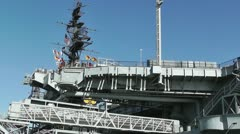 San Diego US Naval Base USS Midway Carrier 07 Stock Footage