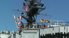 San Diego US Naval Base USS Midway Carrier 08 Stock Footage