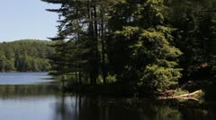 Vermont Lake during Summer - stock footage