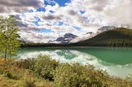 Stock Photo of Banff National Park Alberta Canada lake mountains vibrant