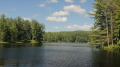 Wide shot of Lake during Summer Stock Footage