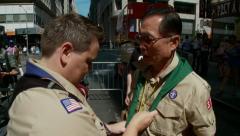 George Takei, Jennifer Tyrrell, NYC Pride Parade, Boy Scouts Stock Footage