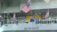 San Diego US Naval Base USS Midway Carrier 15 Stock Footage