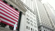 Stock Video Footage of New York Stock Exchange NYSE Wall Street pan 24p