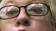 Senior Eyes in Disbelief - stock footage