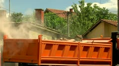 Excavator and Sidecar Stock Footage