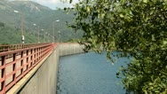 Full water reservoir in italy Stock Footage