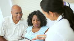 Patient Treatment Records Updated Tablet Technology Stock Footage