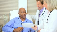 Patient Treatment Plan Updated Tablet Technology - stock footage