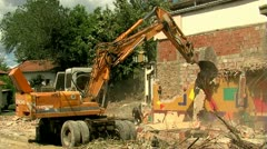 Excavator Wide Stock Footage