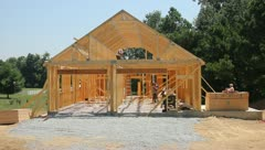 Stock Video Footage of House construction 2
