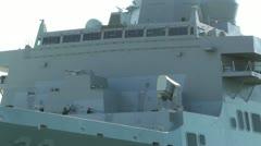 San Diego US Naval Base USS San Diego LPD22 battleship 02 Stock Footage