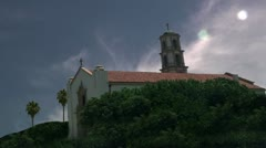 Camarillo st. Mary magdalen chapel church time lapse historic religious Stock Footage