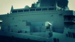 San Diego US Naval Base USS San Diego LPD22 battleship 09 stylized Stock Footage