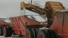 Bulldozer on salt lake Stock Footage