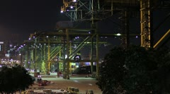 Singapore Industry Harbor Stock Footage