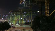 Stock Video Footage of Singapore Industry Harbor