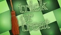 Trick or Treat - Halloween Broom - stock footage
