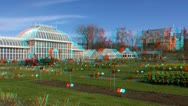 Stock Video Footage of Stereoscopic 3D of Helsinki botanic garden 2 (combo 1080p)